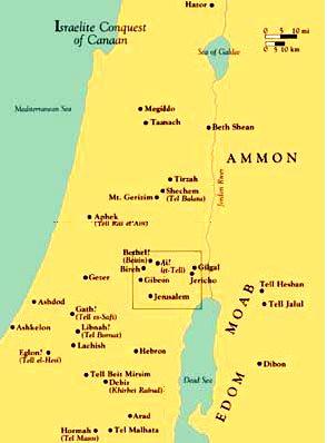 Conquête de Canaan par les israélites